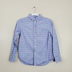 Polo Ralph Lauren Plaid Blue and Pink Long Sleeve